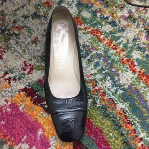 CHANEL Size 36 Black Caviar Shoes- right foot only